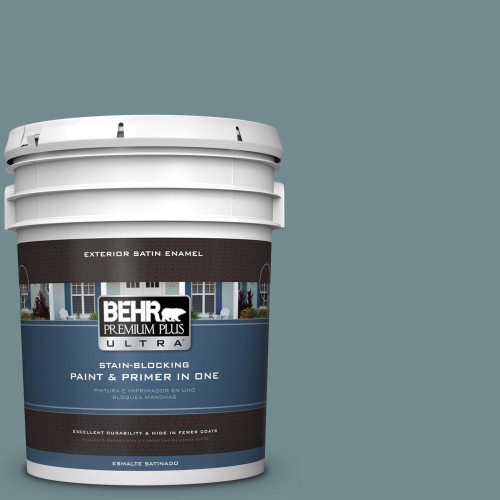 BEHR Premium Plus Ultra 5-gal. #PPF-46 Leisure Time Satin Enamel Exterior Paint