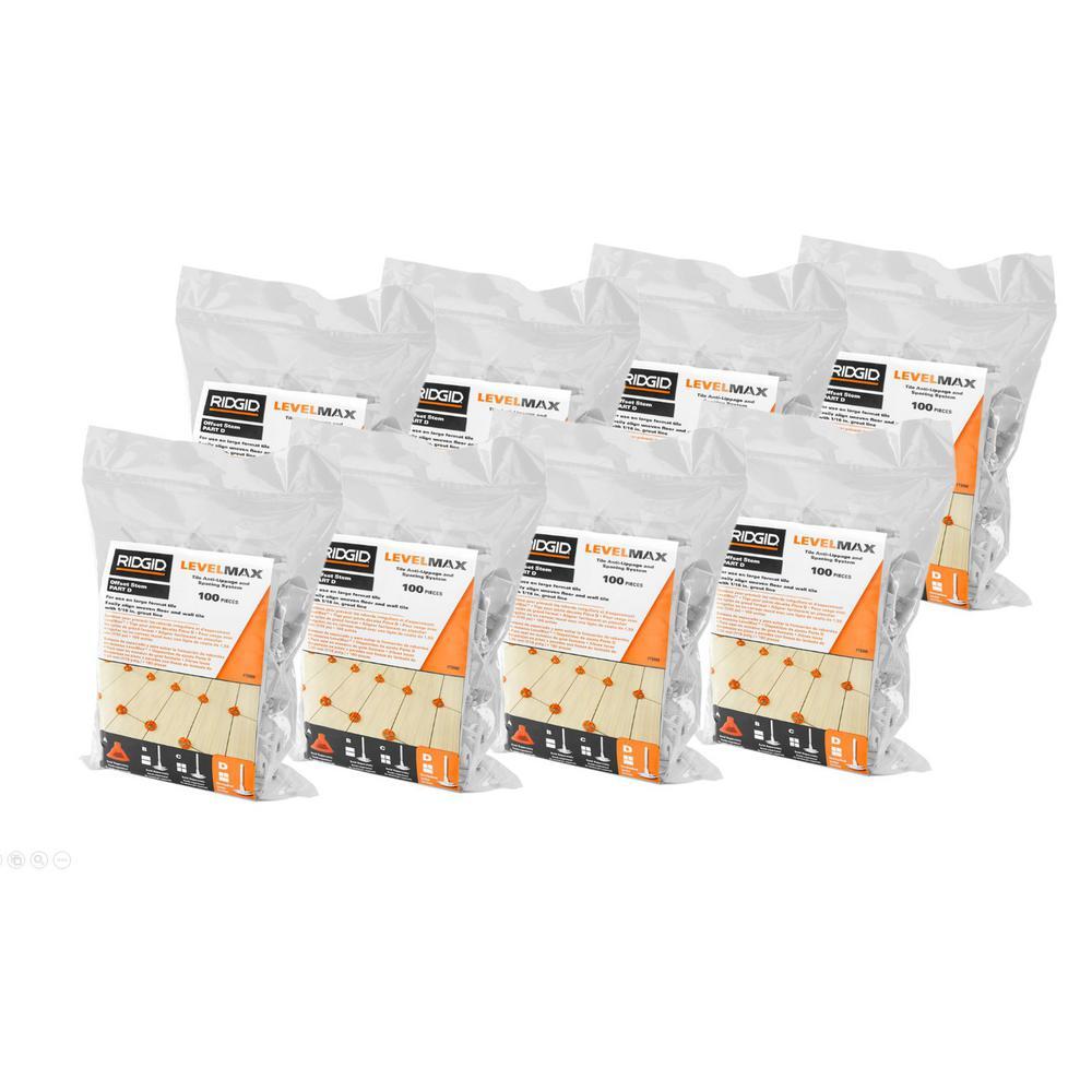 800CT RIDGID LevelMax Tile Anti-Lippage and Spacing Brick Stem Deals