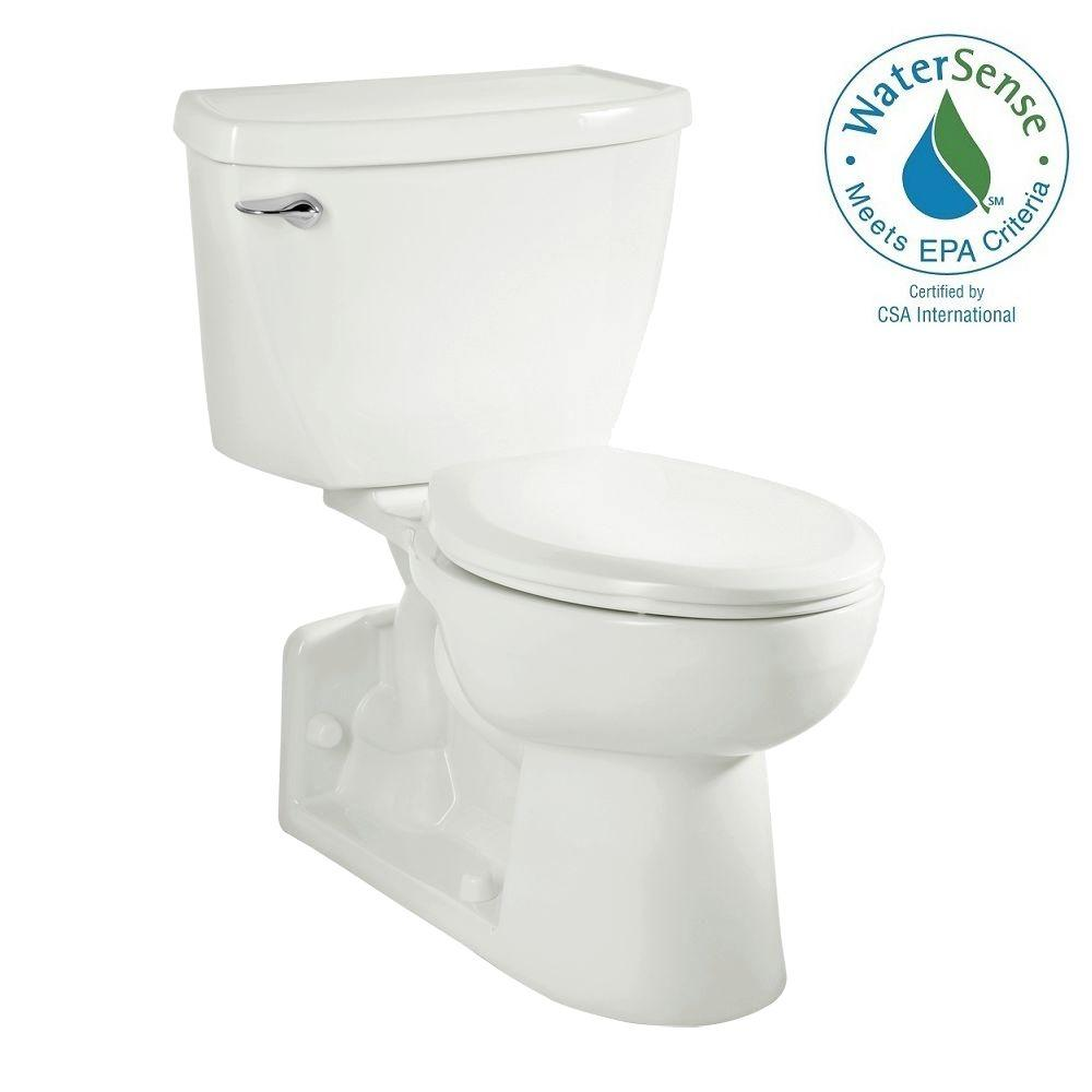 American Standard Yorkville FloWise Tall Height 4 in. Rough-In 2-piece 1.1 GPF Single Flush Pressure Assisted Elongated Toilet in White