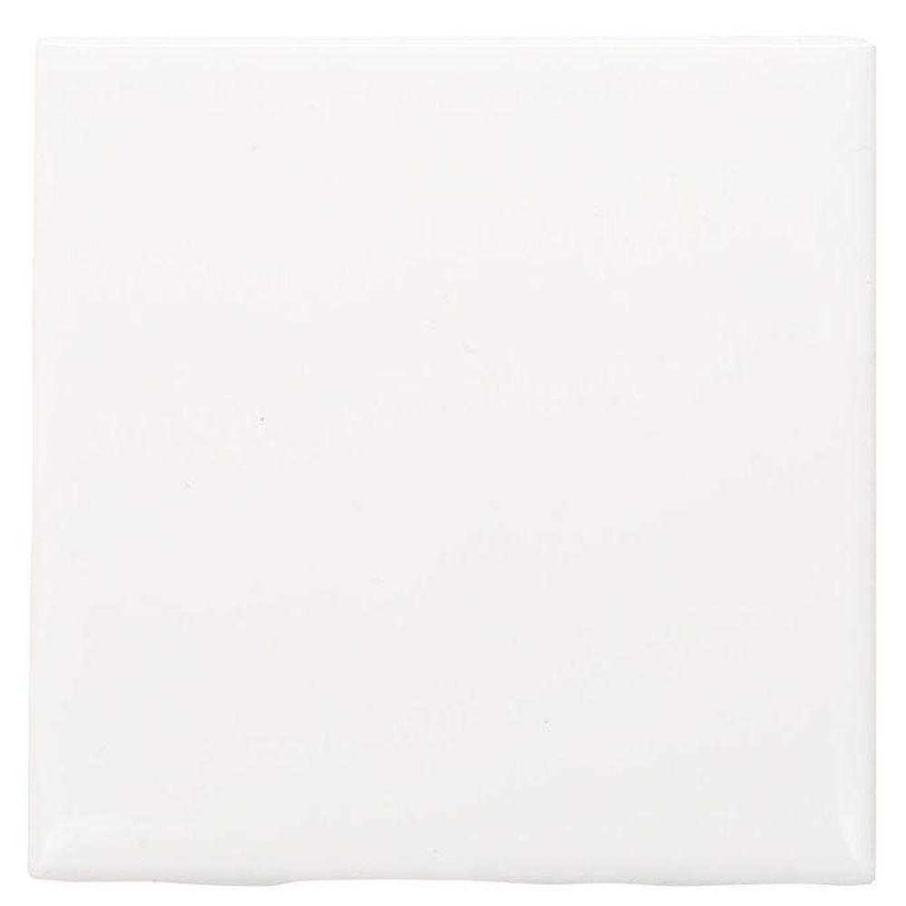 Daltile Semi-Gloss White 4-1/4 in. x 4-1/4 in. Ceramic Wall Tile ...