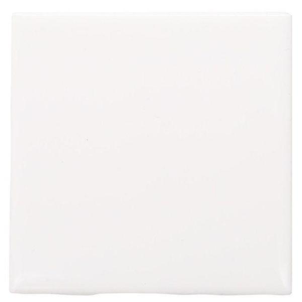 Semi-Gloss White 4-1/4 in. x 4-1/4 in. Ceramic Wall Tile (12.5 sq. ft. / case)
