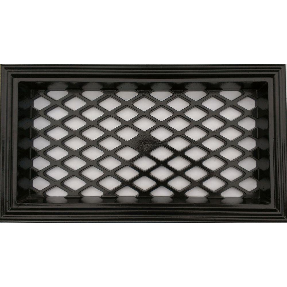 17 In Metal Small Rectangle Vent In Black Wf003 The