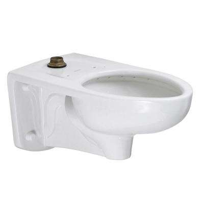 Afwall FloWise 1.25 to 1.6 GPF Elongated Top Spud Toilet Bowl Only in White