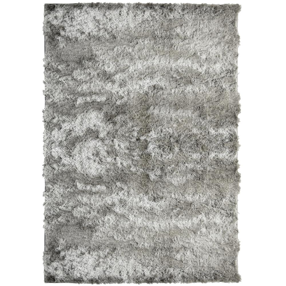 Home Decorators Collection So Silky Gray Polyester 5 ft. x 7 ft. Area Rug
