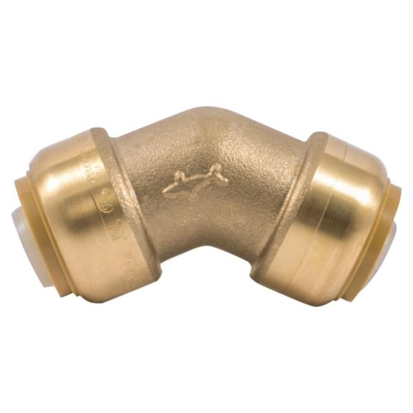 3/4 in. Push-to-Connect Brass 45-Degree Elbow Fitting