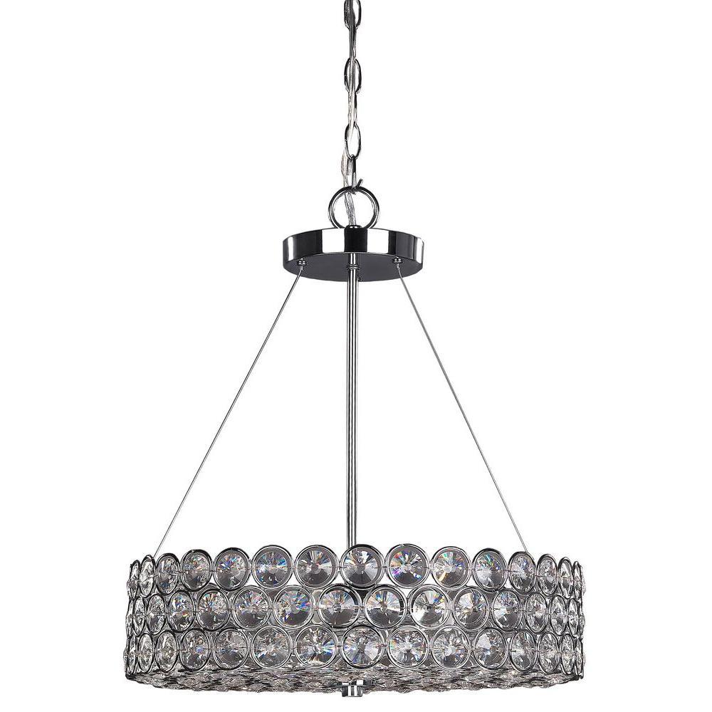 Alice 3 light chrome crystal chandelier