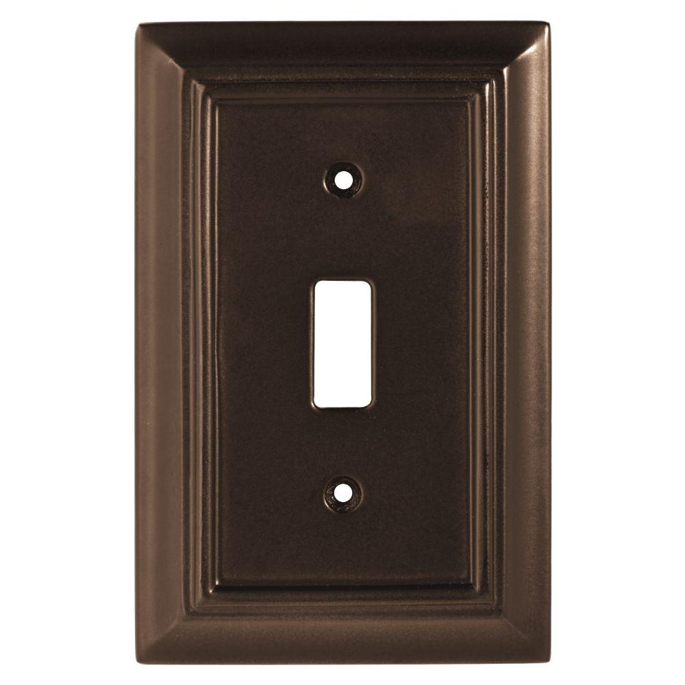 Architectural Wood Decorative Single Switch Plate, Espresso