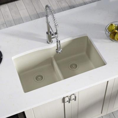 Mr Direct Undermount Kitchen Sink Composite Granite 33 In