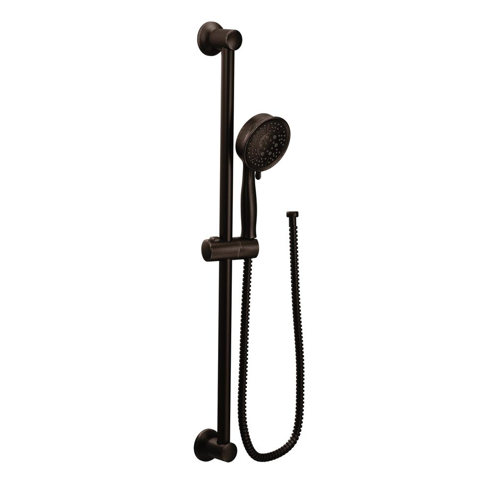 Moen 4 Spray Eco Performance Handheld Hand Shower With Slide Bar In Oil Rubbed