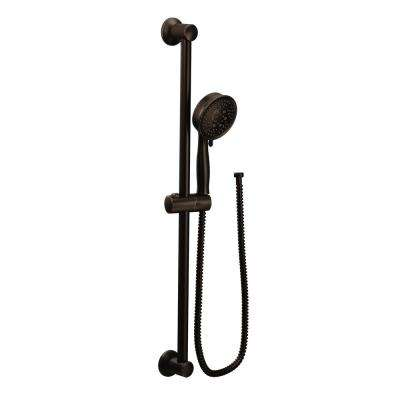 4-Spray Eco-Performance Handheld Hand Shower with Slide Bar in Oil Rubbed Bronze