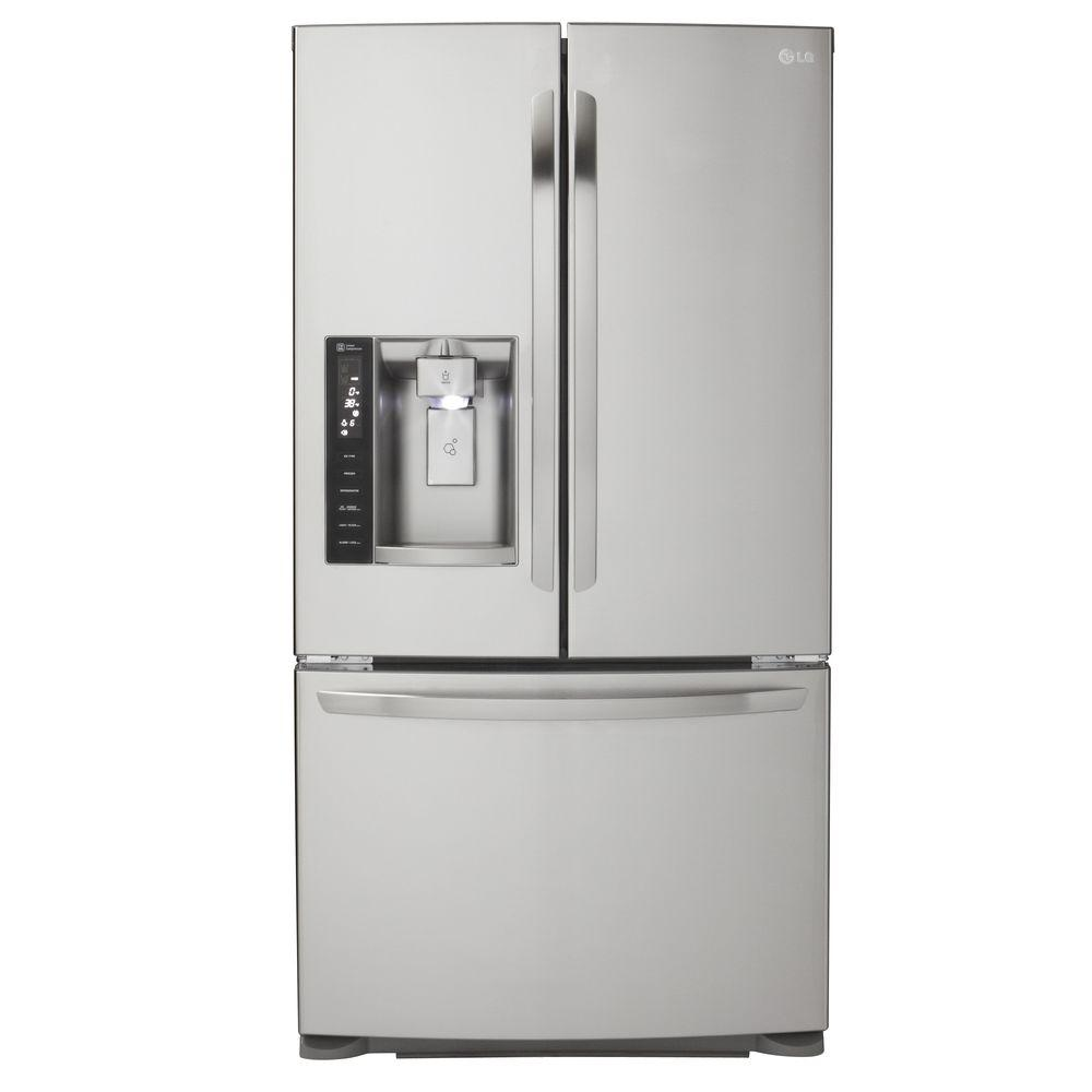 LG Electronics 19.8 Cu. Ft. French Door Refrigerator In Stainless Steel, Counter  Depth