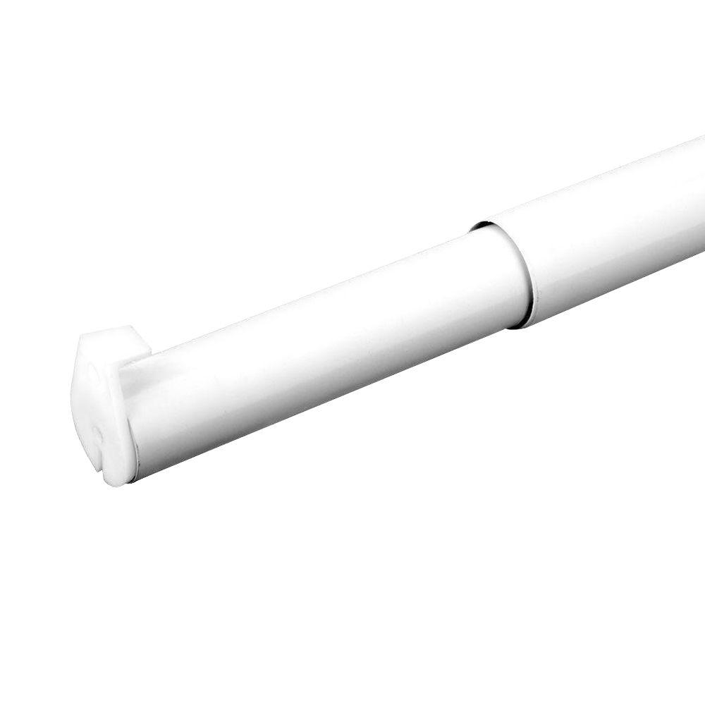 30 in. - 48 in. White Adjustable Closet Rod