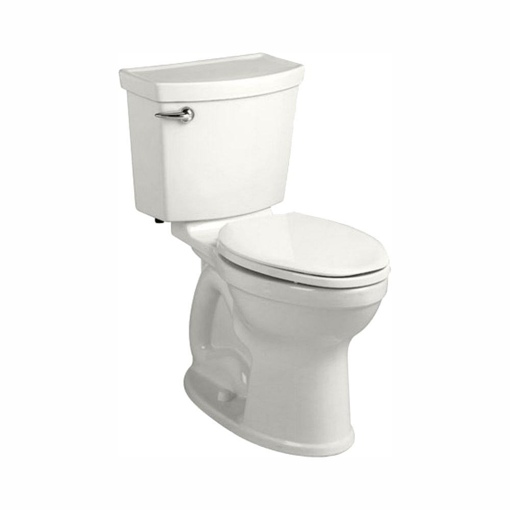 American Standard Champion 4 HET Tall Height 2-piece 1.28 GPF Single Flush High-Efficiency Round Toilet in White