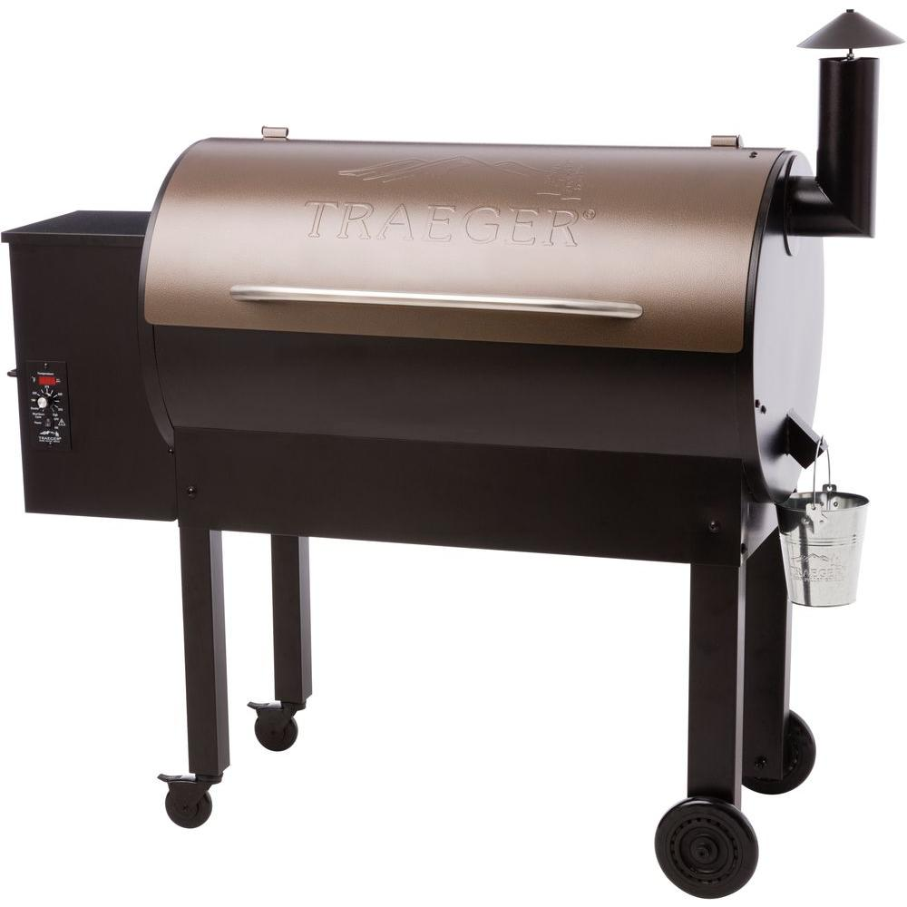 Traeger Texas Elite 34 Wood Fired Pellet Grill and Smoker in Bronze