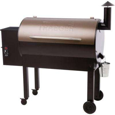 Texas Elite 34 Wood Fired Pellet Grill and Smoker in Bronze