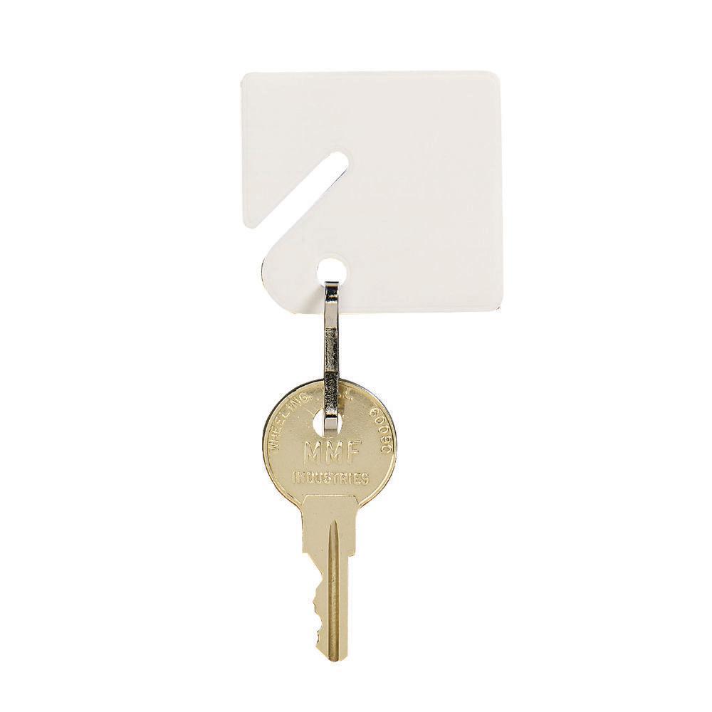 Slotted Rack Key Tags Plain (20-Pack)