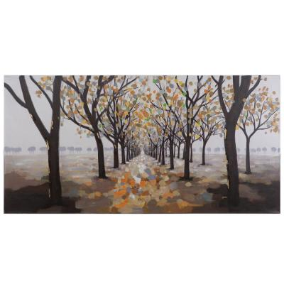"27.5 in. x 55.25 in. ""Pathway"" Hand Painted Contemporary Artwork"