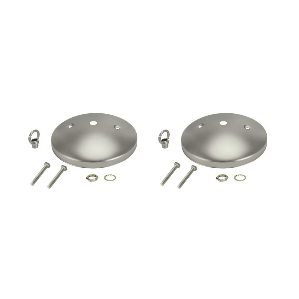 Aspen Creative Corporation 5 in. Brushed Pewter Modern Canopy Kit (2-Pack)