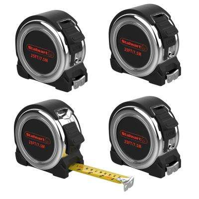 25 ft. Retractable Tape Measure (4-Pack)