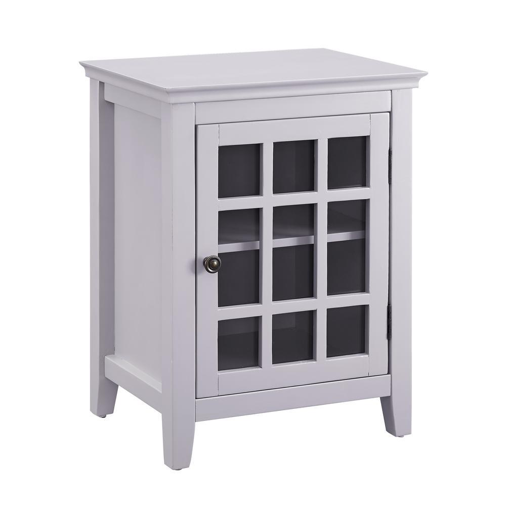 Payton Gray Single Door Cabinet