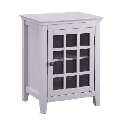 Payton Gray Single Door Cabinet