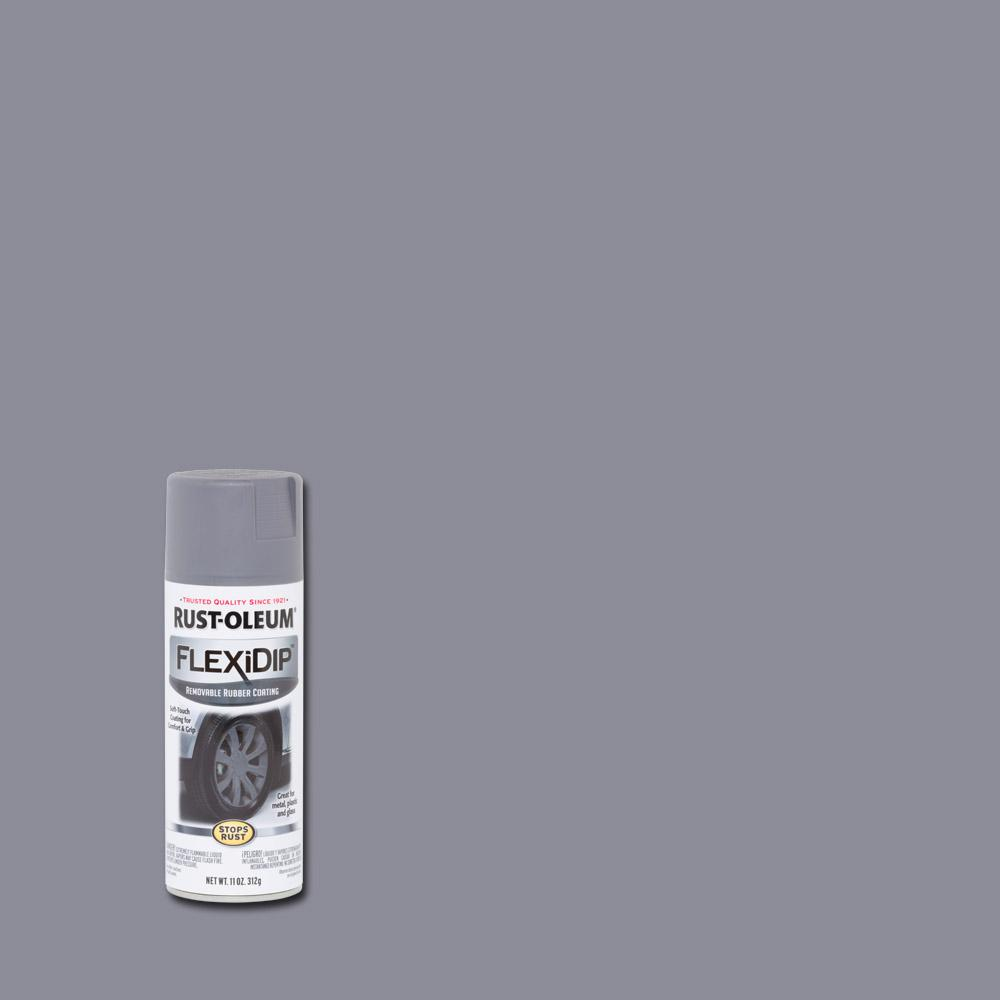 11 oz. Matte Dark Gray Removable Rubber Coating Spray