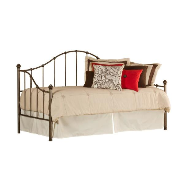 Hillsdale Furniture Amy Old Brushed Pewter Daybed with Suspension Deck 1271DBLH