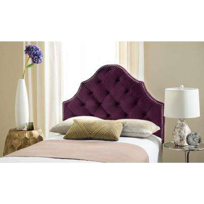 upholstered diamond modern allmodern headboards furniture tufted fitzroy save wingback headboard purple