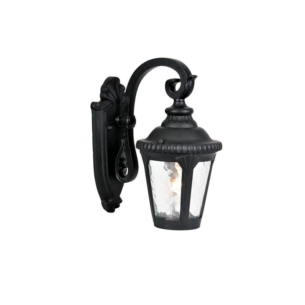 Surrey Collection 1-Light Matte Black Outdoor Wall-Mount Light Fixture