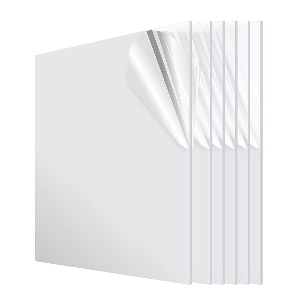 24 in. x 36 in. x 1/8 in. Clear Plexiglass Acrylic Sheet (6-Pack)