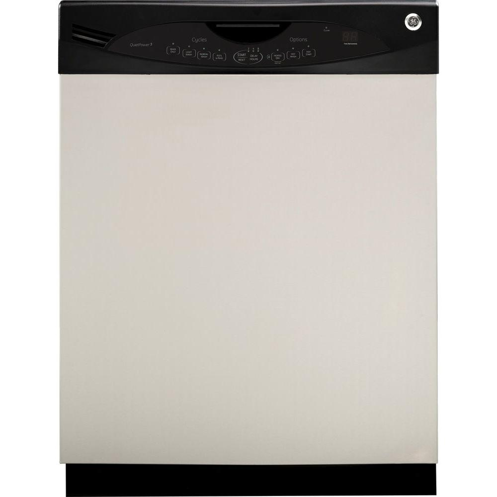 GE 24 in. Front Control Dishwasher in Stainless Steel with Stainless Steel Tub