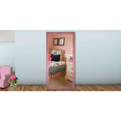 65.5 in. x 30.5 in. Vintage Pink Framed Tall Mirror