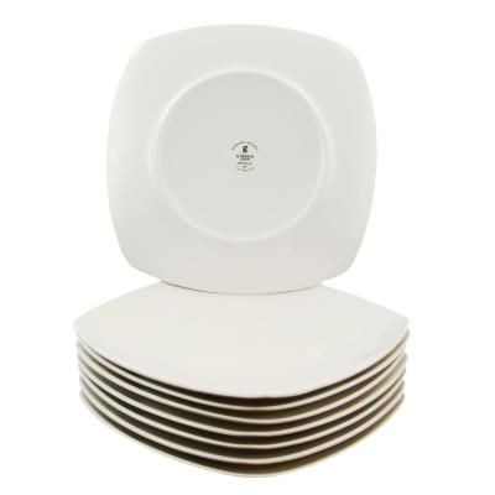 Zen Buffetware White Square Salad Plates (Set of 8)