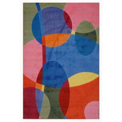 Supreme Groovy Dots Multi Colored 3 ft. x 5 ft. Area Rug