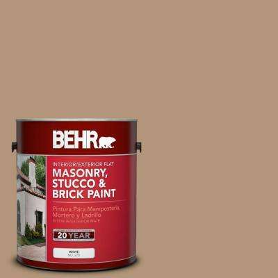 1-gal. #MS-17 Tierra Flat Interior/Exterior Masonry, Stucco and Brick Paint