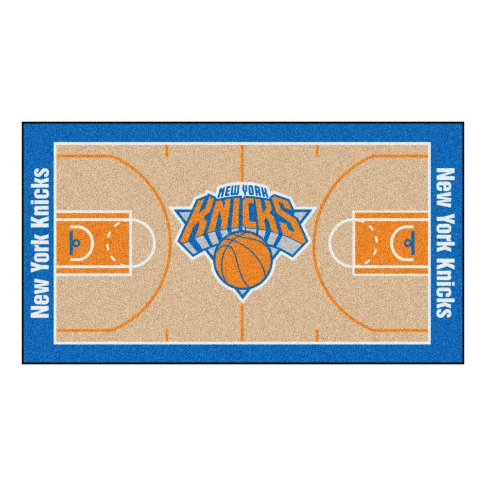 NBA New York Knicks 3 ft. x 5 ft. Large Court Runner Rug