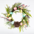 Home Accents Holiday 22 in. Easter Wreath with Speckled Eggs and Nest
