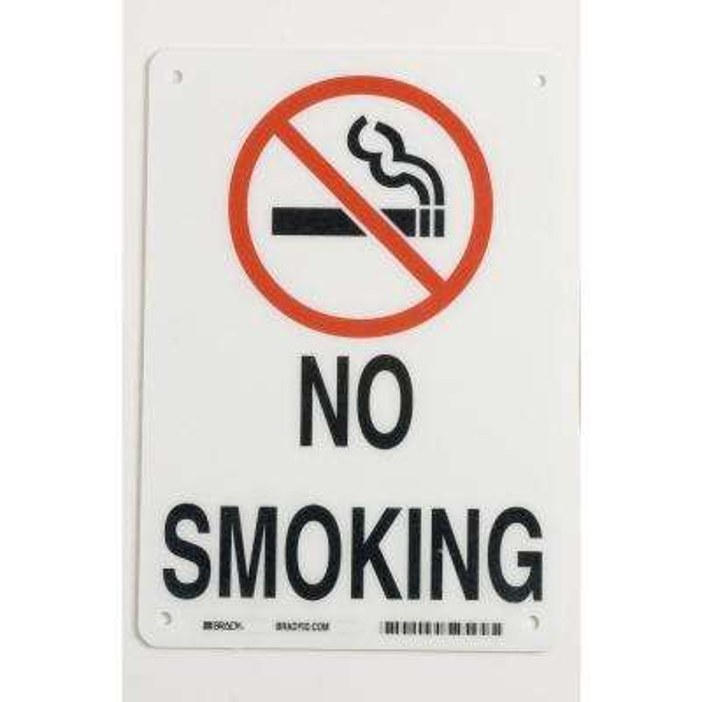 10 in. x 7 in. Aluminum No Smoking Sign