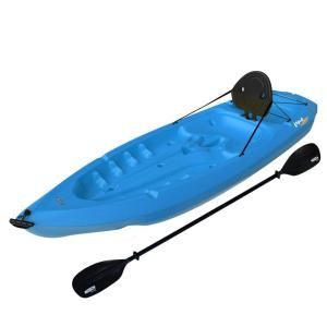 Click here to buy Lifetime Lotus Blue Kayak with Paddles and Backrest by Lifetime.