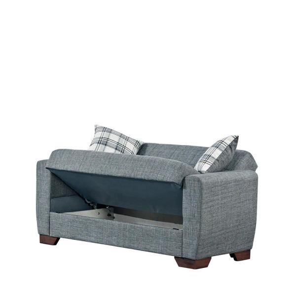 Fabric Upholstery Convertible Love Seat
