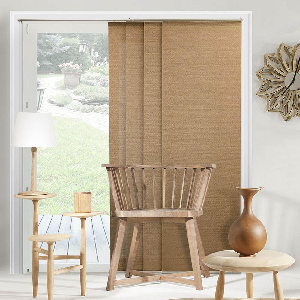Panel Track Blinds Birch Truffle Polyester Cordless Vertical Blinds - 80