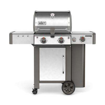 Genesis II LX S-240 2-Burner Propane Gas Grill in Stainless Steel with Built-In Thermometer and Grill Light