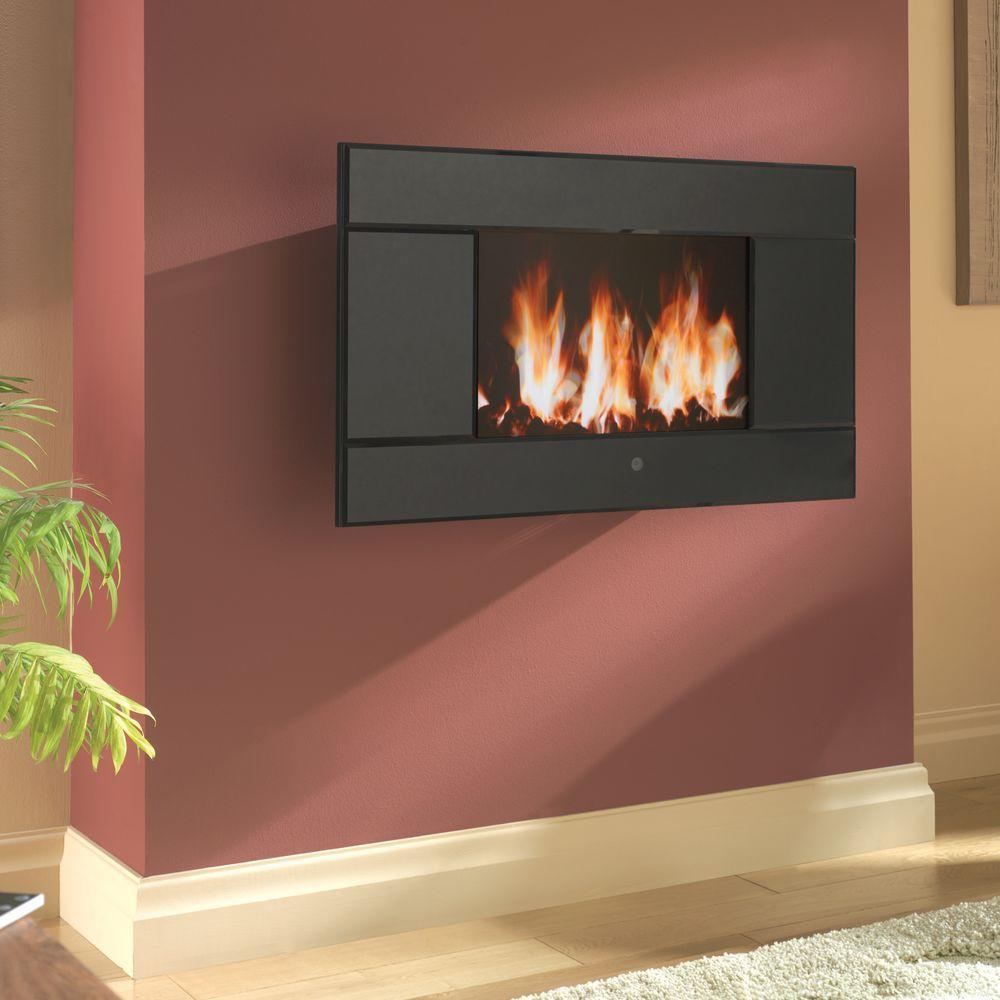 Pleasant Hearth Evoke 31-1/2 in. Wall-Mount LCD Electric Fireplace in Black
