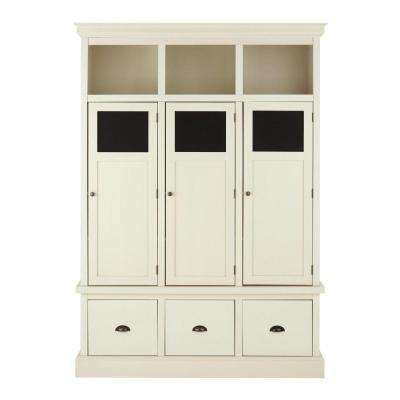 Shelton Wood Storage Locker in Polar White