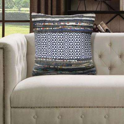 Rugged Geometric Diamond 18 in. x 18 in. Multi Color Throw Pillow