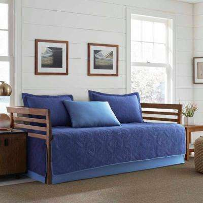 Axis 5-Piece Navy Twin Reversible Daybed Bedding Set