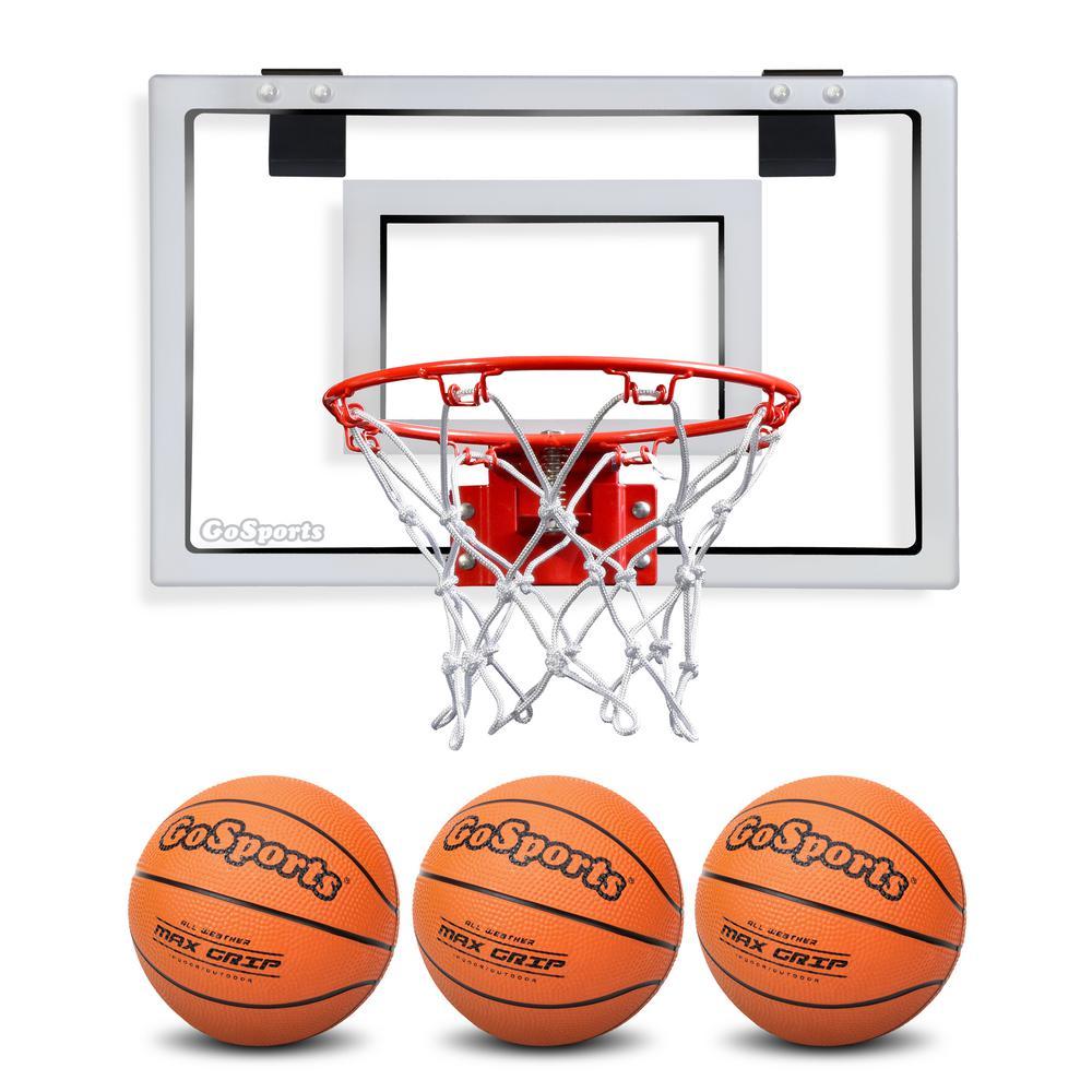 Etonnant GOSPORTS Over The Door Basketball Hoop With 3 Premium Basketballs And Pump    Standard Size