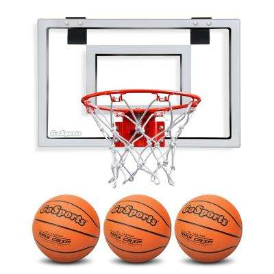 Over the Door Basketball Hoop with 3 Premium Basketballs and Pump - Standard Size