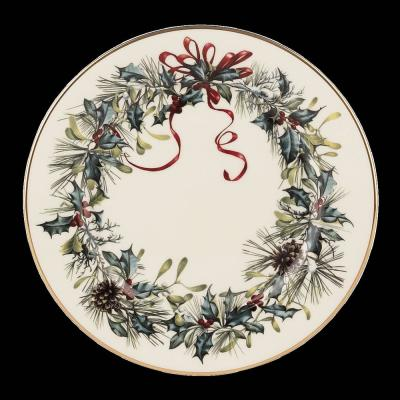 Winter Greetings B & B-Tidbit Plate