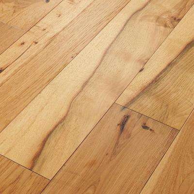 Take Home Sample - Belvoir Hickory York Engineered Brushed Hardwood Flooring - 7-1/2 in. x 8 in.
